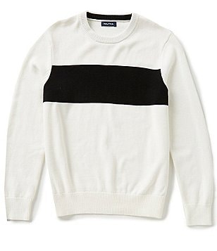 Nautica Chest-Stripe Crewneck Sweater
