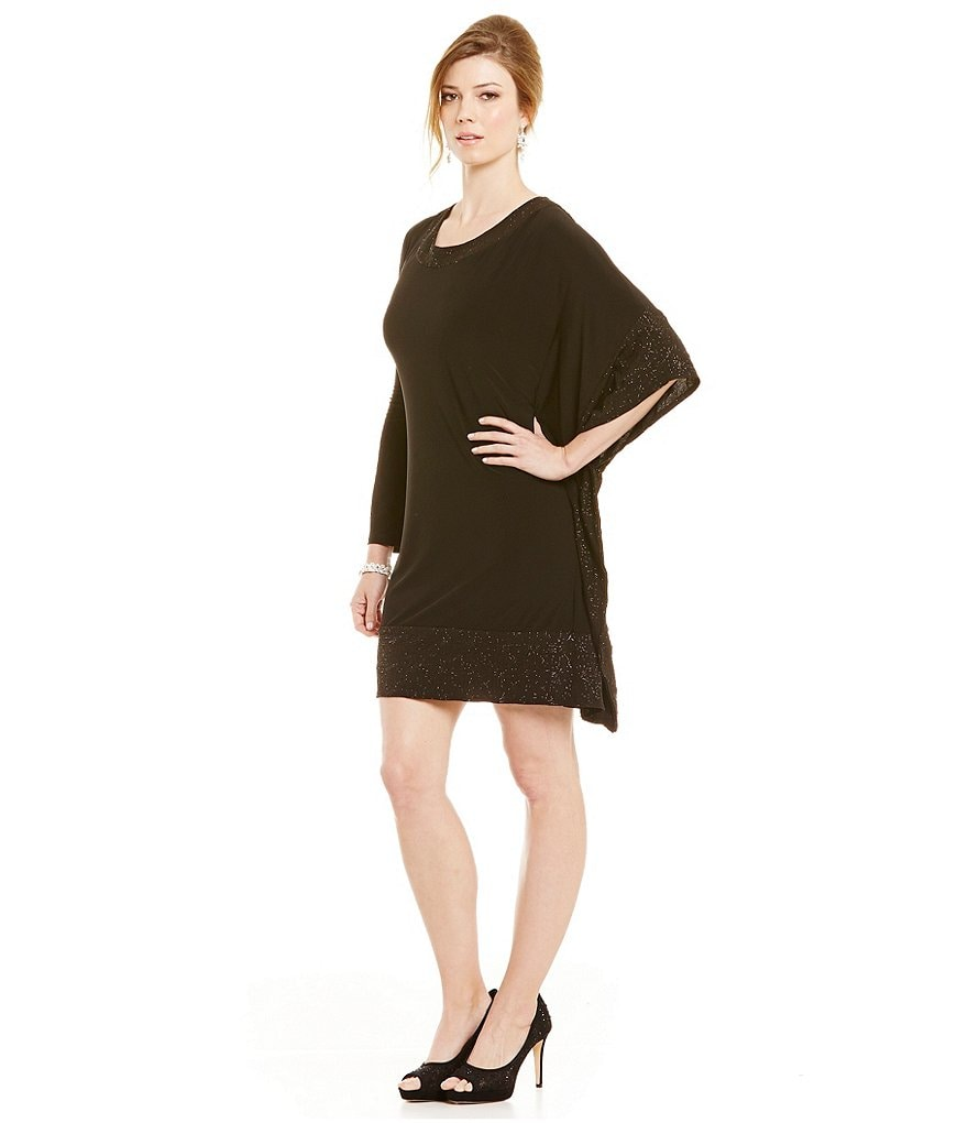 R & M Richards Glitter Band Poncho Dress