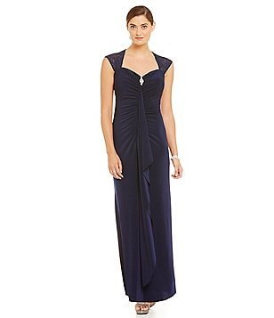 R & M Richards Ruched Sweetheart Gown