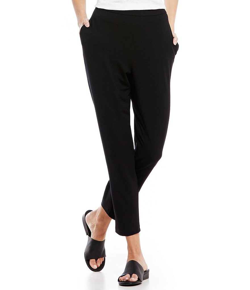 Eileen Fisher Petite Viscose Slouchy Pants