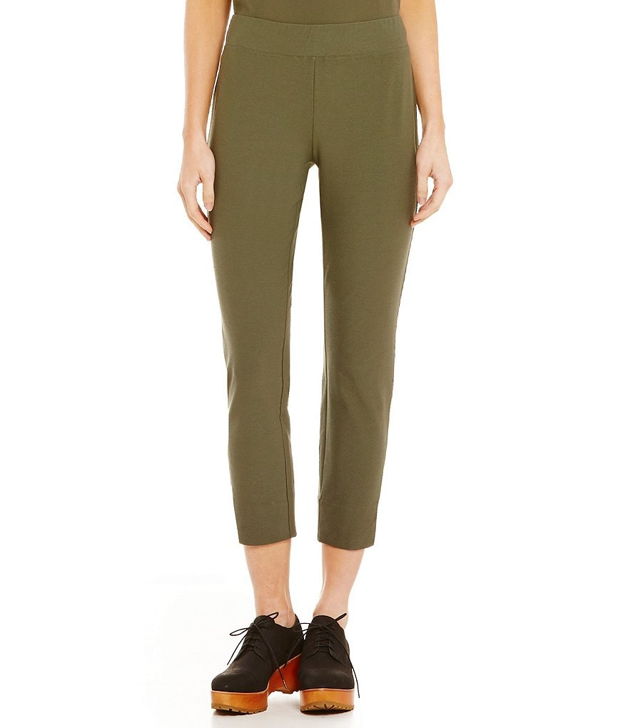 Eileen Fisher Petites Stretch Crepe Slim Cropped Pants