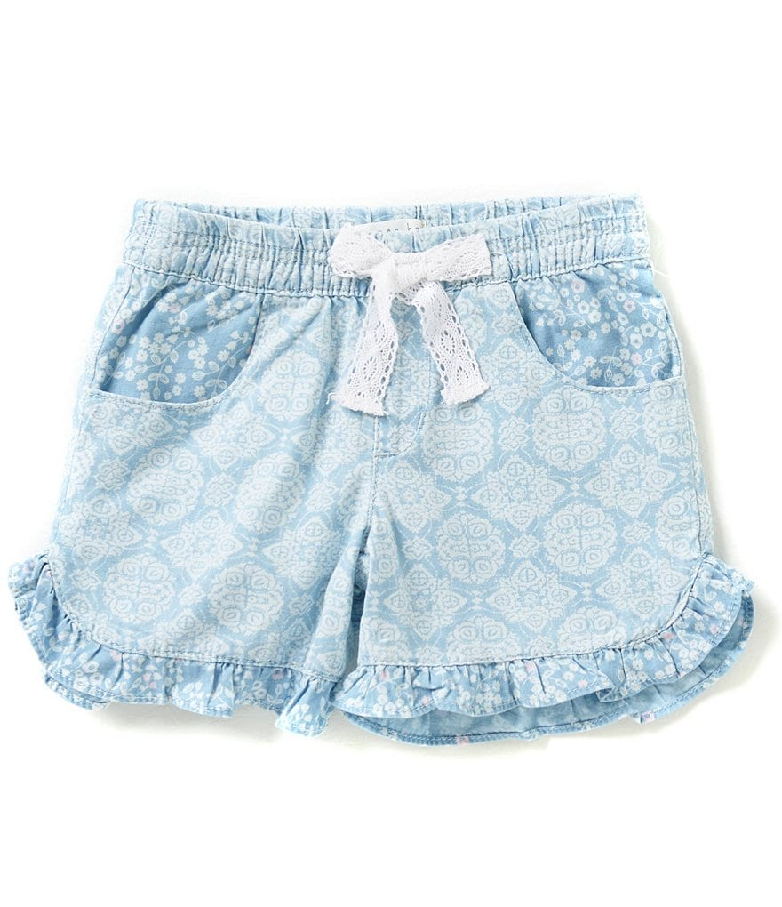 Copper Key Little Girls 2T-6X Printed Lace Shorts