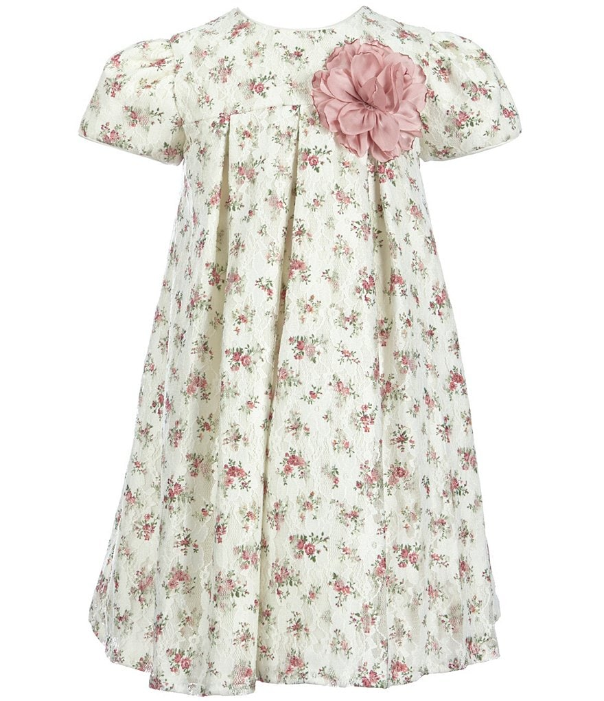 Laura Ashley London Little Girls 2T-6X Ditsy Floral Lace Dress