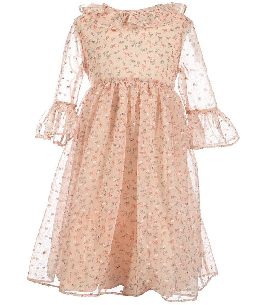 Laura Ashley London Little Girls 2T-6X Ditsy-Floral Ruffle Dress