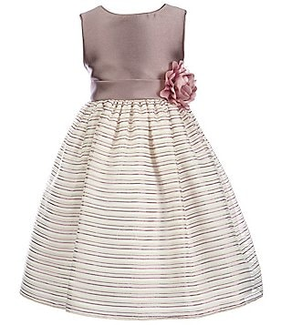 Laura Ashley London Little Girls 2T-6X Satin Striped Dress