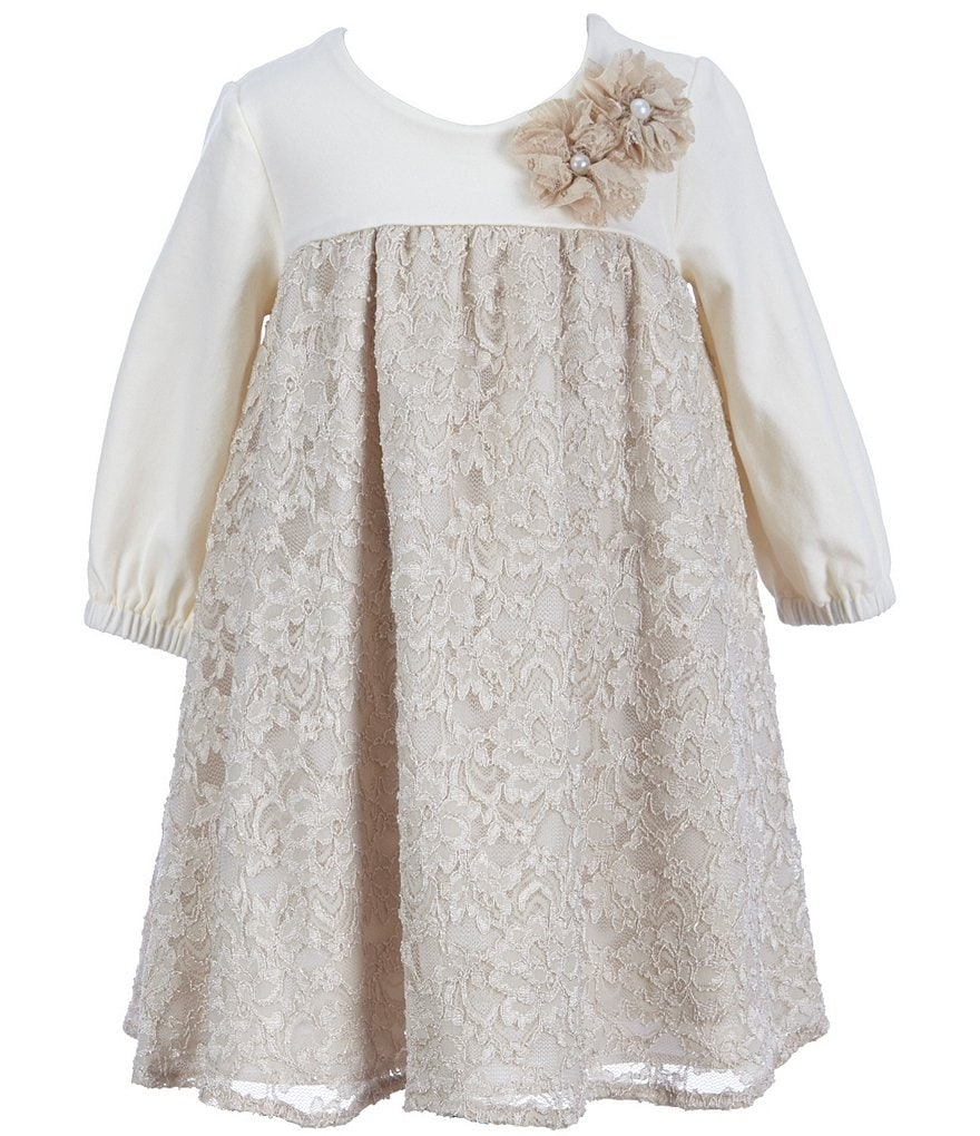Laura Ashley London Little Girls 2T-6X Floral Lace A-Line Dress