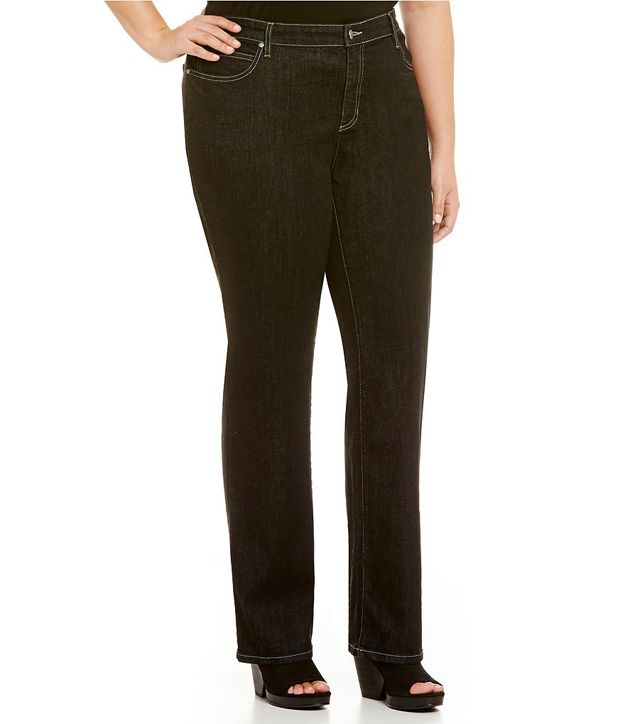 Eileen Fisher Plus 5-Pocket Straight Jeans
