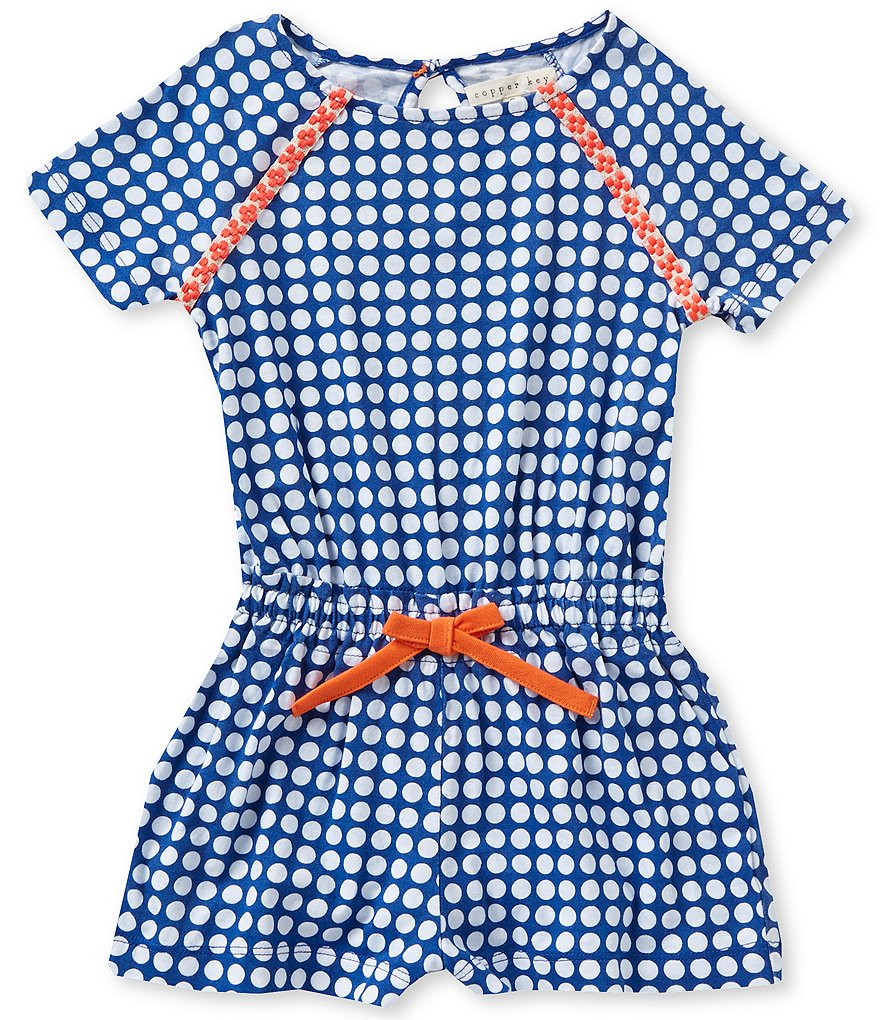 Copper Key Little Girls 4-6X Printed Romper