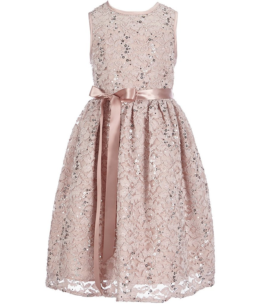 Marmellata Little Girls 2T-6X Metallic Lace Dress