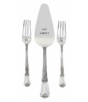 Mud Pie Vintage Wedding Cake Server Set