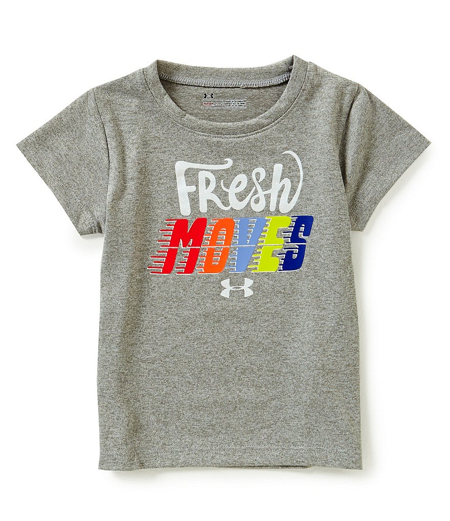 Under Armour Little Girls 2T-6X Fresh Moves Short-Sleeve Tee