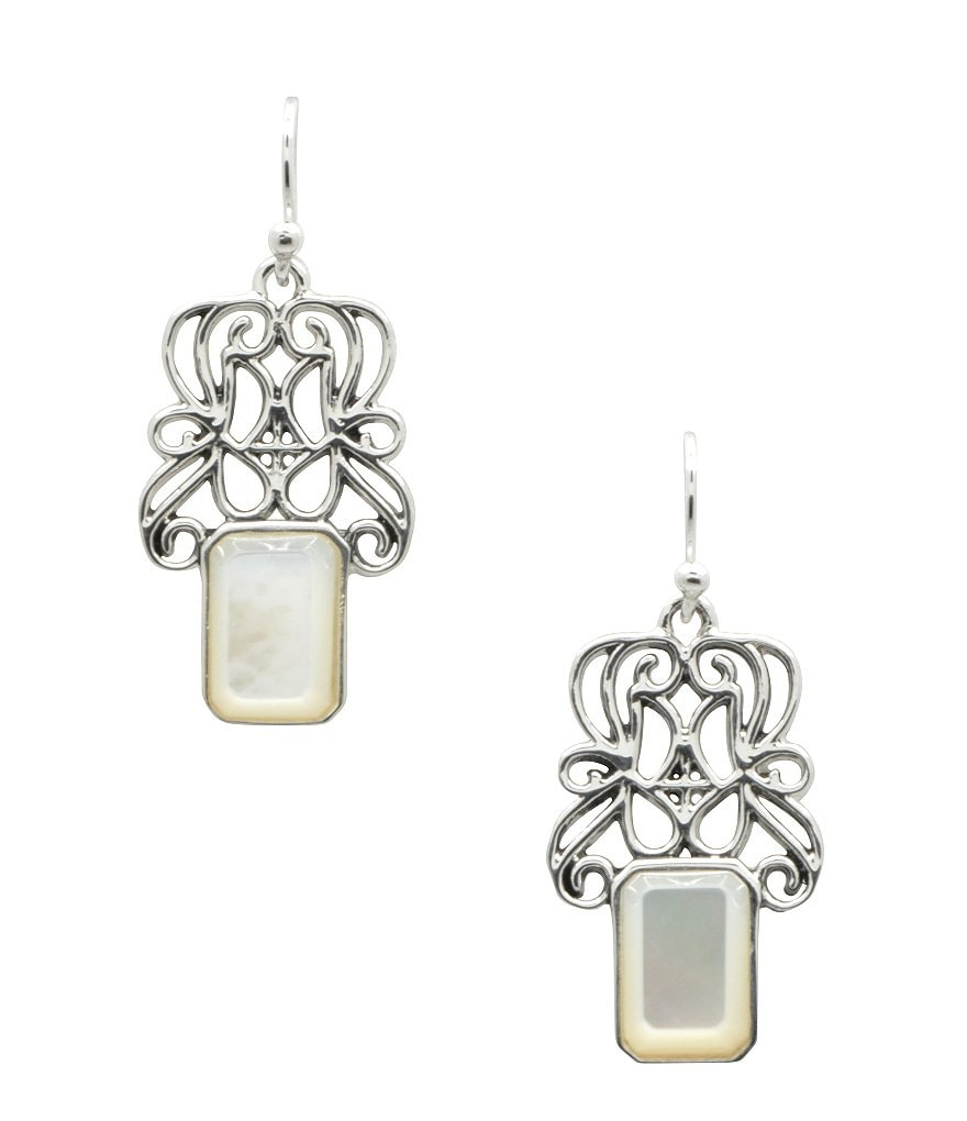 Calvary Sterling Silver & Mother-of-Pearl Drop Earrings