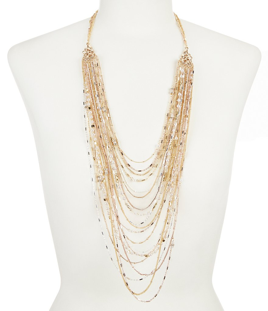 Belle Badgley Mischka Multi-Strand Pearl Necklace
