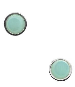 Calvary Sterling Silver and Amazonite Stud Earrings