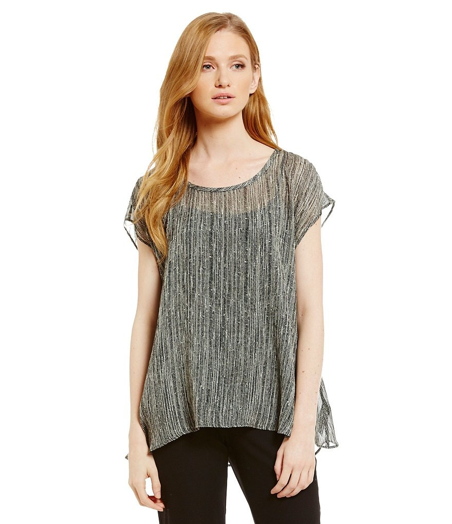 Eileen Fisher Printed Silk Top