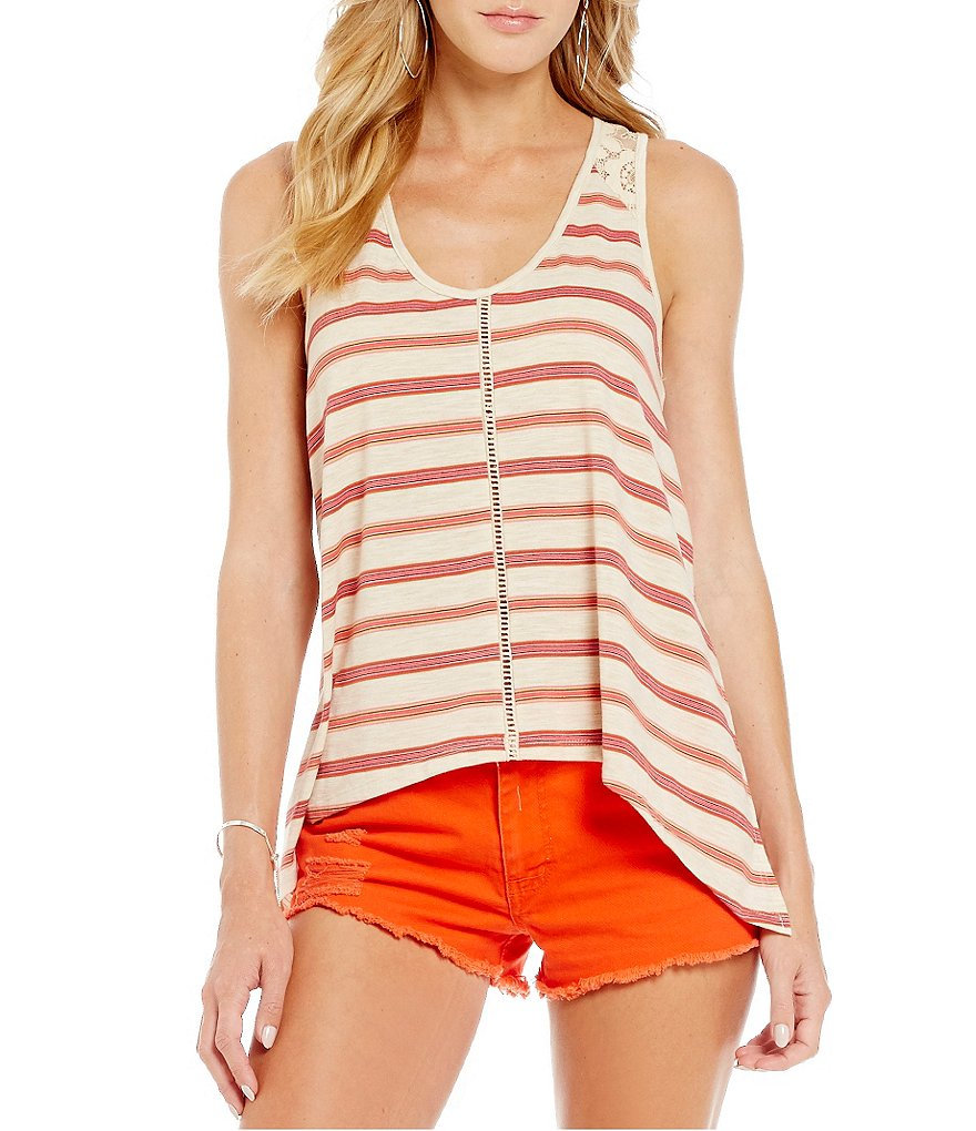 Copper Key Striped Knit Tank