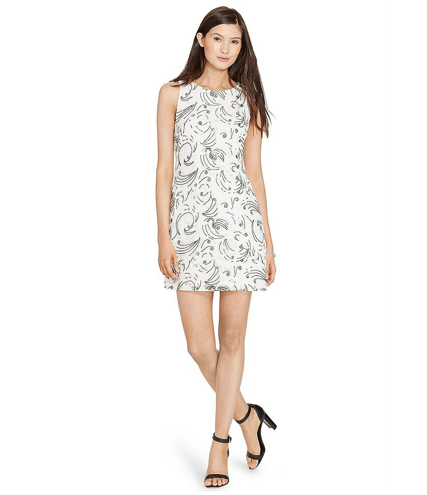 Lauren Ralph Lauren Sequin Lace Sheath Dress