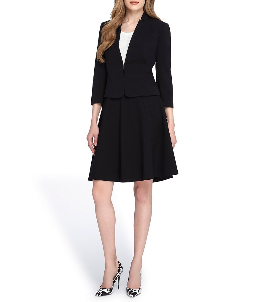 Tahari ASL Starneck Fit-and-Flare Skirt Suit