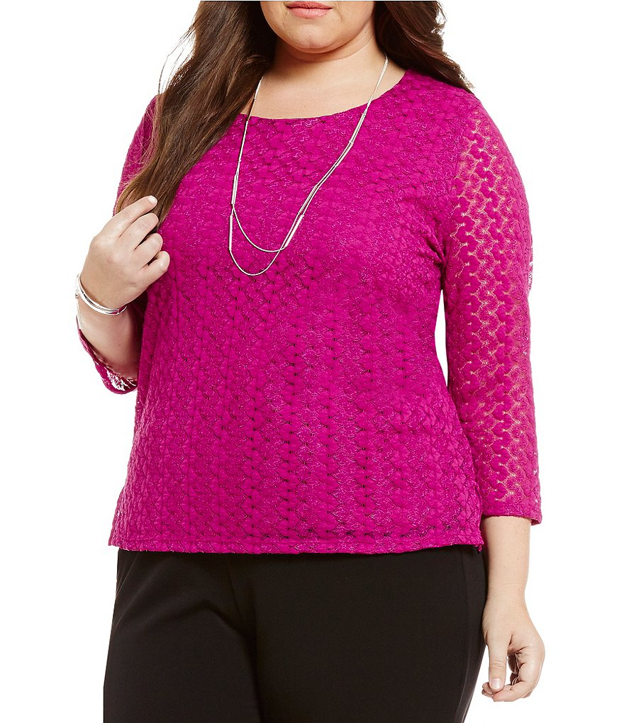 Allison Daley Plus Scoop-Neck Knit Top
