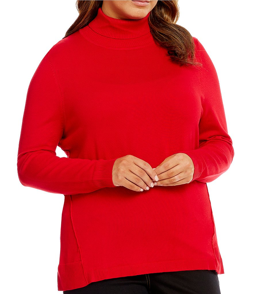 Allison Daley Plus Turtleneck Pullover Sweater