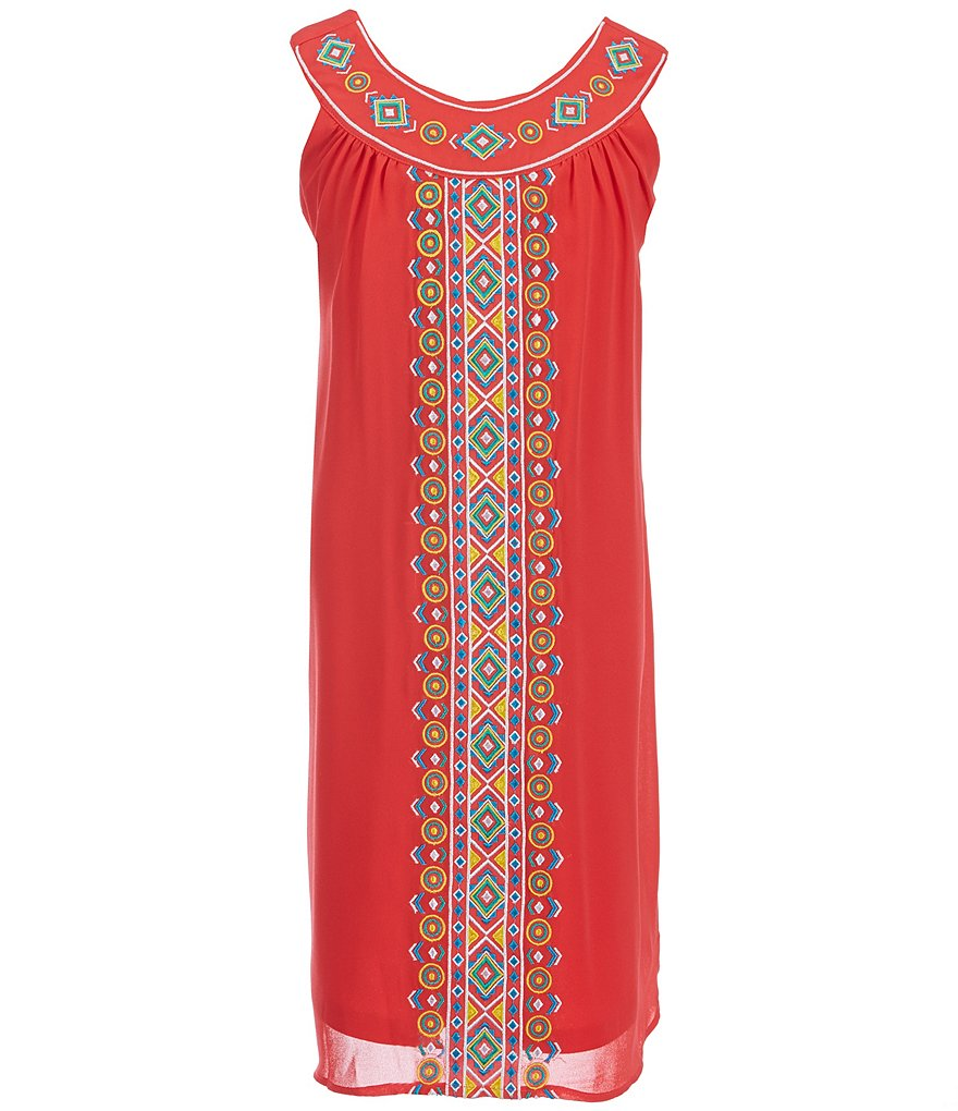 Blush by Us Angels Big Girls 7-16 Embroidered Trapeze Dress