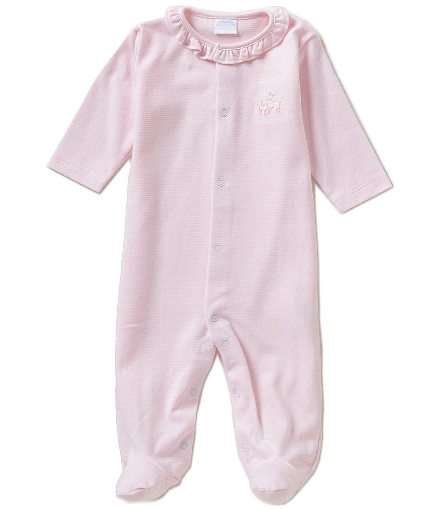 Edgehill Collection Baby Girls Newborn-6 Months Striped Footed Coverall