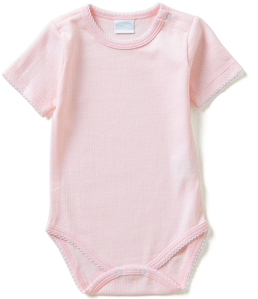 Edgehill Collection Baby Girls Newborn-6 Months Solid Bodysuit