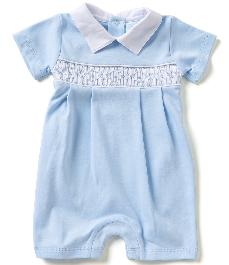 Edgehill Collection Baby Boys Newborn-6 Months Smocked Shortall