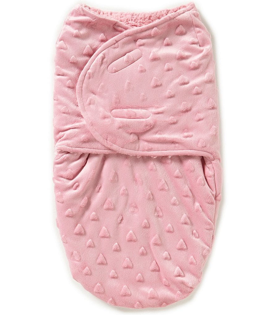 Starting Out Baby Girls Raised Heart Swaddle Blanket