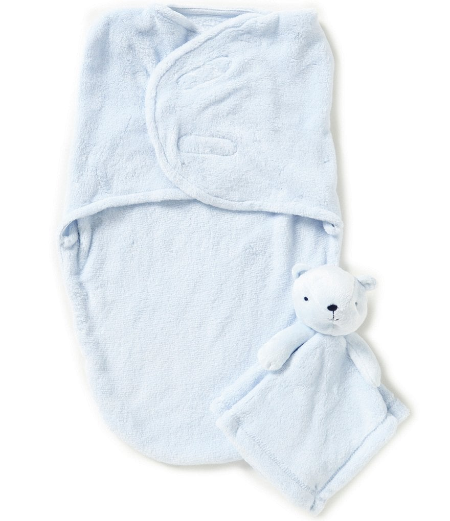 Starting Out Baby Boys Fleece Swaddle & Blanket Buddy