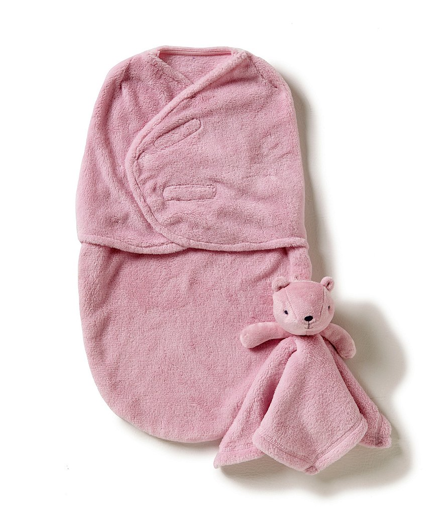 Starting Out Baby Girls Fleece Swaddle & Blanket Buddy