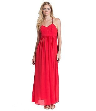 Belle Badgley Mischka Bethany Sleeveless X-Back Dress