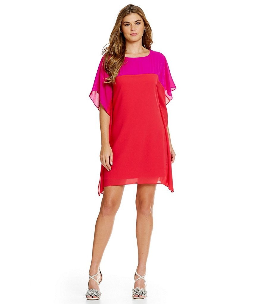 Belle Badgley Mischka Florence Colorblock Shift Dress