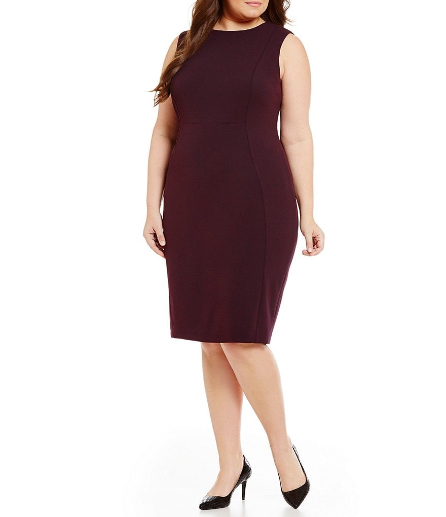 Calvin Klein Plus Scuba Sheath Dress
