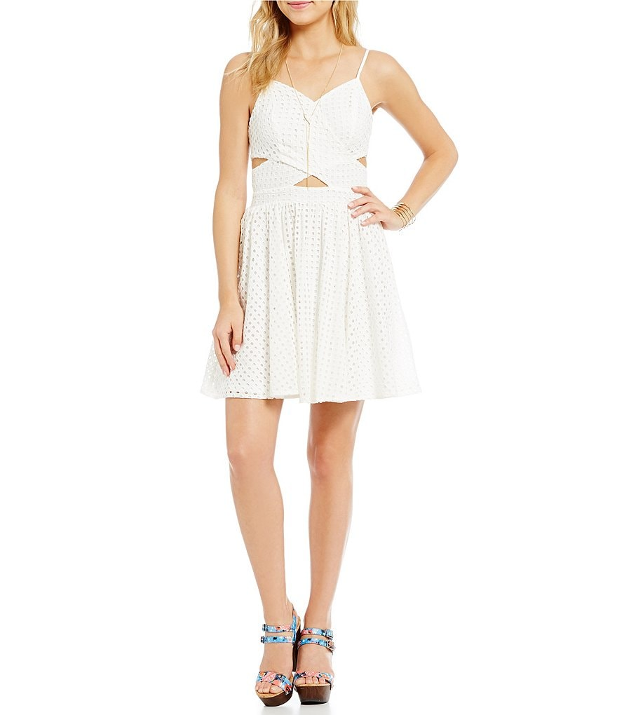 GB Cut-Out Eyelet Dress