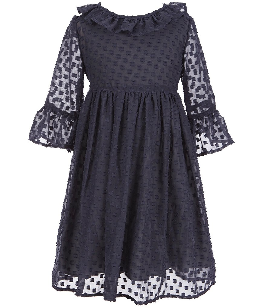 Laura Ashley London Little Girls 2T-6X Swiss-Dot Dress