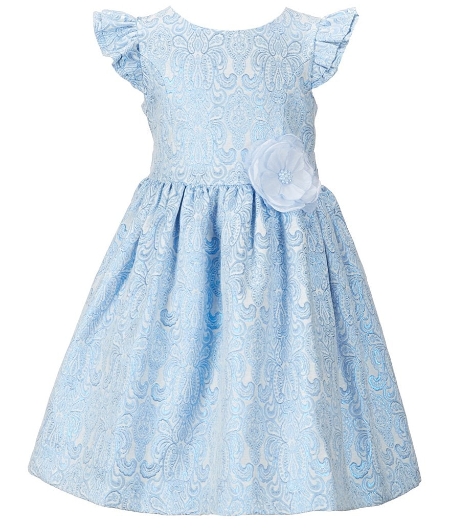 Laura Ashley London Little Girls 2T-6X Flutter-Sleeved Dress