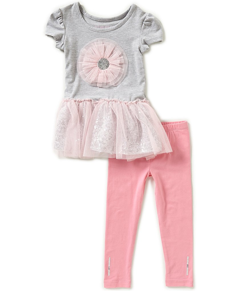 Flapdoodles Little Girls 2T-6X Tutu Dress & Leggings Set