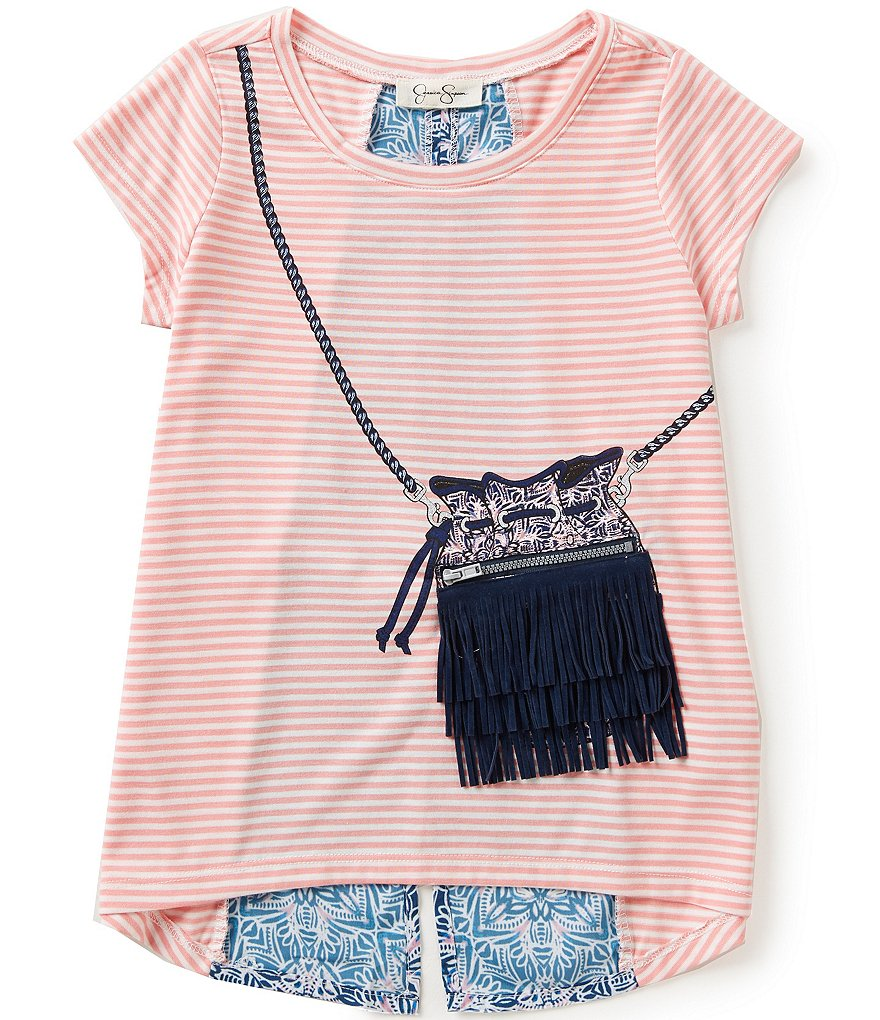 Jessica Simpson Little Girls 2T-6X Nora Gypsy Fringe Tee