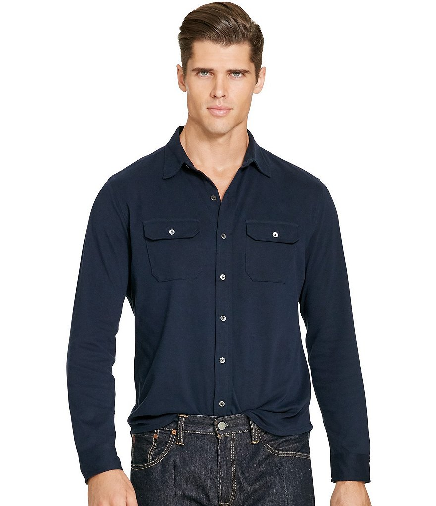 Polo Ralph Lauren Big & Tall Cotton Interlock Workshirt