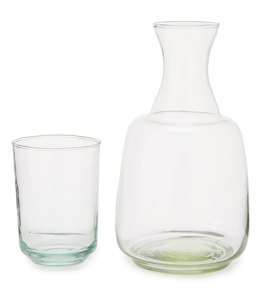 Southern Living Bedside Stackable Glass Carafe & Drinking Glass Set