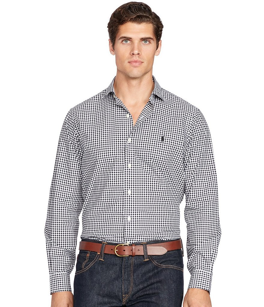 Polo Ralph Lauren Big & Tall Gingham Poplin Estate Shirt