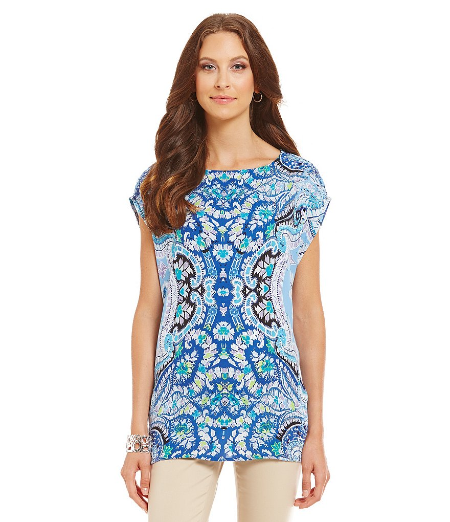 Preston & York Estelle Medallion Tunic Top