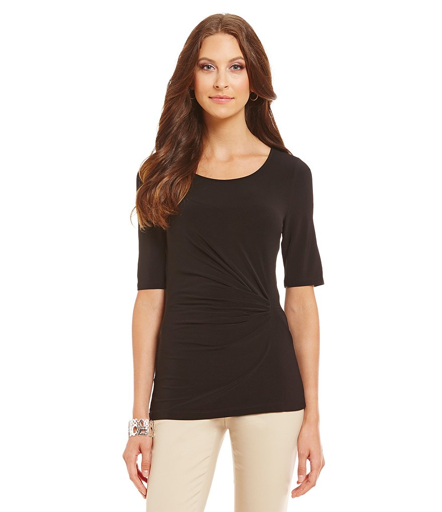 Preston & York Elizabeth Side Ruched Blouse