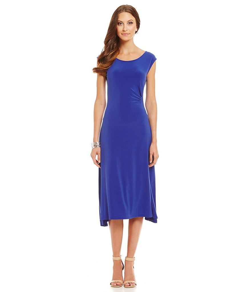 Preston & York Emily Side Ruched Knit Dress