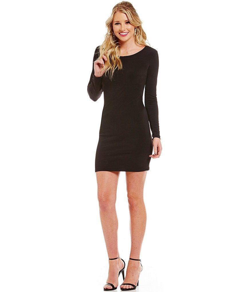 Jodi Kristopher Lace-Up Back Sheath Dress
