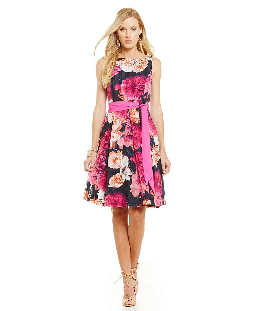Eliza J Floral Fit and Flare Dress