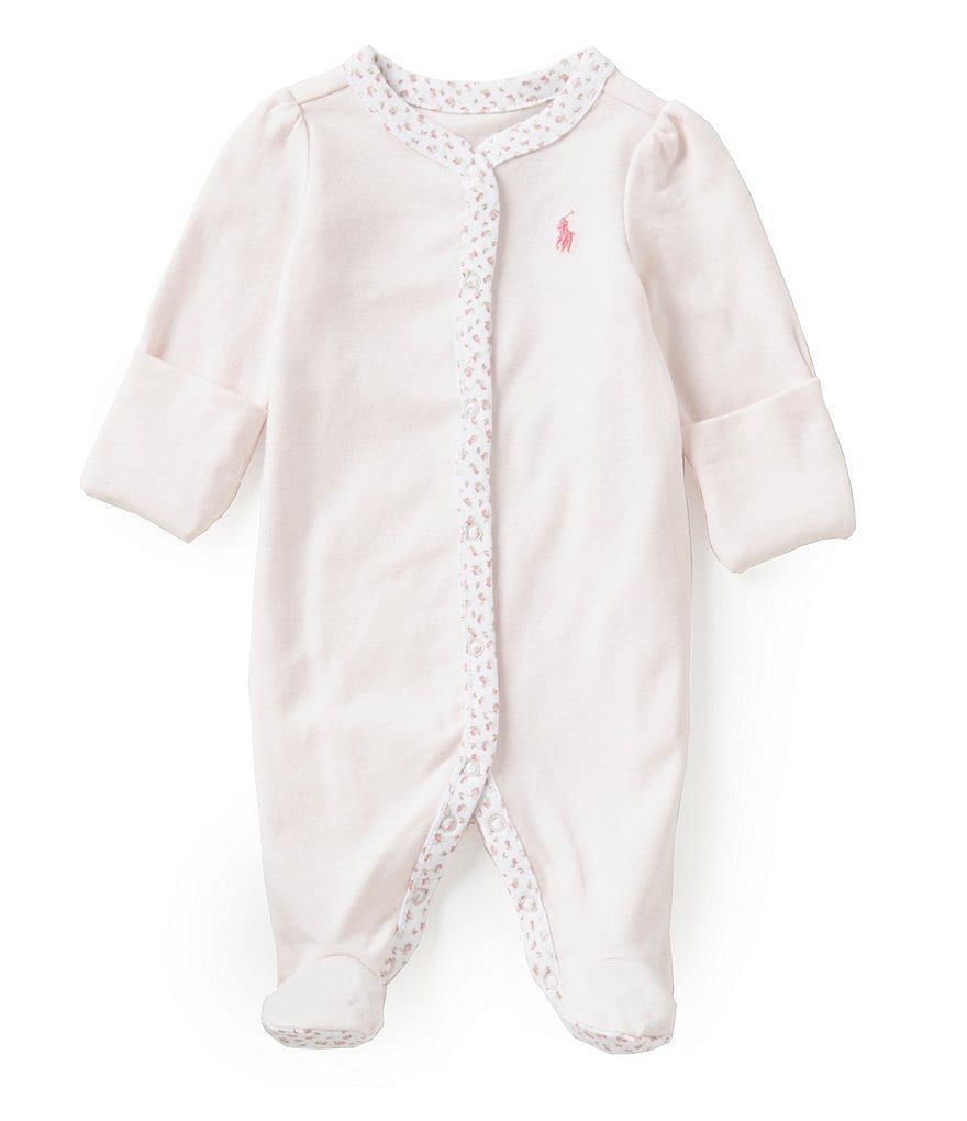 Ralph Lauren Childrenswear Baby Girls Newborn Coverall, Two-Piece Pant Set & Cap