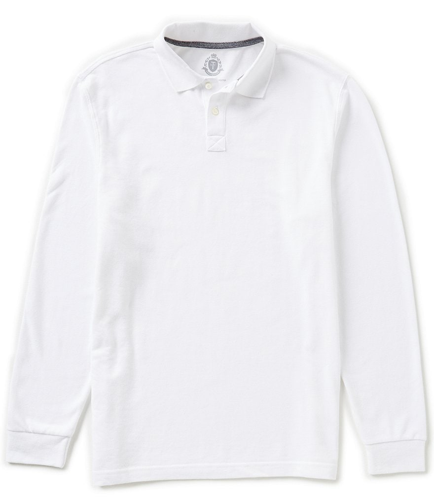 Roundtree & Yorke Trademark Long Sleeve Pique Polo