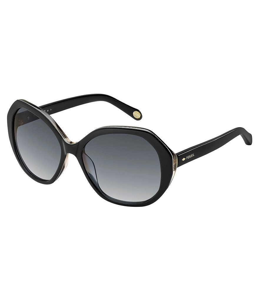 Fossil Rounded Hexagon Gradient Sunglasses